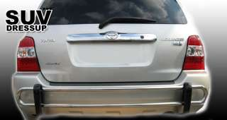 08 10 09 TOYOTA HIGHLANDER REAR BUMPER GUARD DOUBLE PIPE STAINLESS