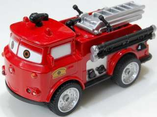 Pixar Cars Red Fire Engines Diecast Music Light PullBack Car