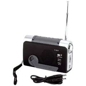 Mitaki Japan Wind Up FM Weather Radio LED Flashlight